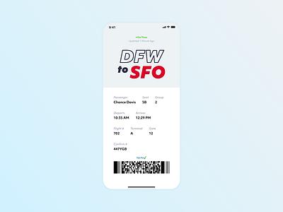 Daily Ui #023 - Boarding Pass app vector typography flat ui minimal design dailui