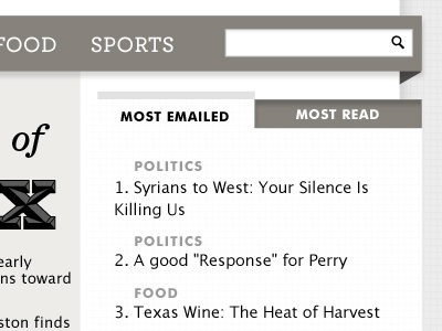 Most Emailed grayscale most emailed articles search