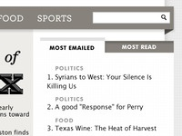 Most Emailed