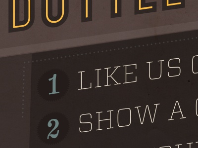 Like Us poster type yellow brown