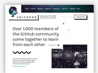 GitHub Universe Exploration, Take 2
