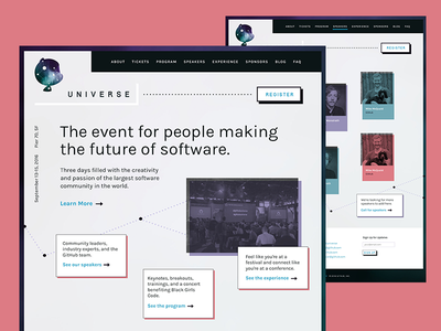GitHub Universe 2016 Website