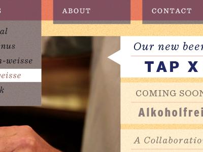Another Brewery orange purple beer website