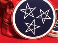 Tennessee Pentagram Sticker