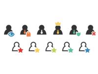 Admin User Icons