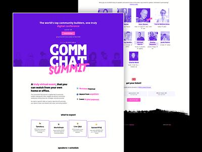 2020 Community Chat Summit Website website design website web community chat community management event website event conference community summit