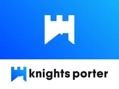 Knights Porter Logo Design housing real estate estate real logo design brandmark design logo