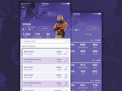 Daily UI 006 - User Profile games stats stat gaming game fortnite user profile profile user daily ui