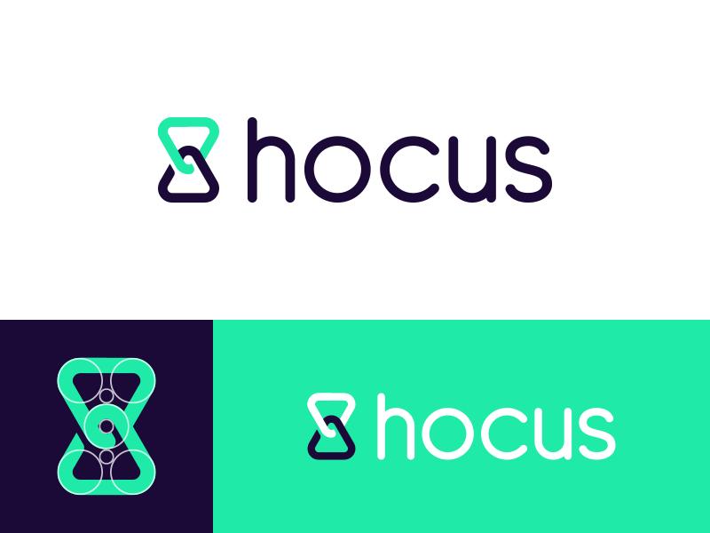 Hocus - Logo Design tracker type brand time branding identity logo app timer hocus