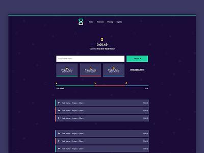 Hocus App Timer - Dark Mode tracker minimal ui web timer app dark mode dark