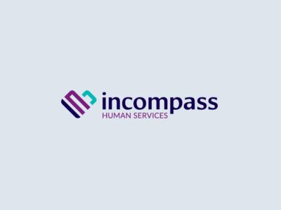 incompass nonprofit brand identity branding healthcare logo logodesign