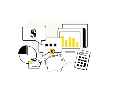 Website Illustrations icon ui minimal higher ed healthcare finance branding illustration