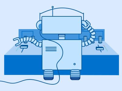 Bot at the mixing board