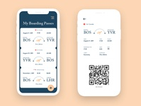 Boarding Pass App Concept