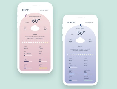 Weather App Concept - Night