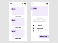 Shopping App Wireframe