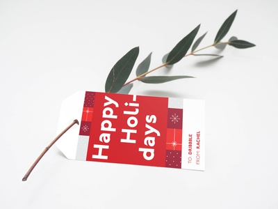 Holiday Tag gift tag illustration typography weekly warm-up