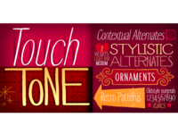Touch Tone font design