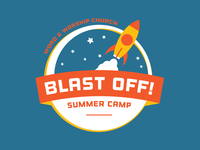 Blast Off Summer Camp Logo