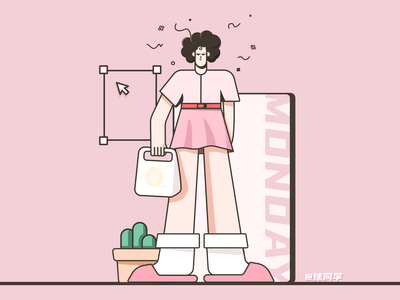 My Monday designer girl ui illustration monday