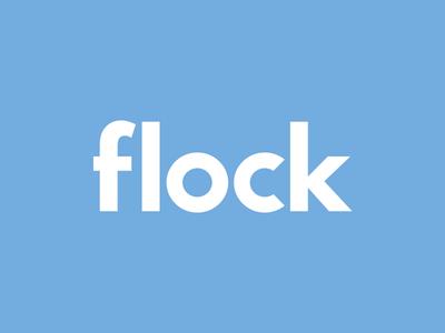 Lettering Flock logo logo lettering