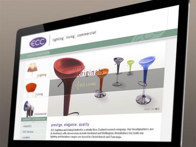 ECC Lighting lighting brochure site design b2c flash animation photo touch up