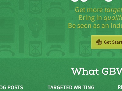 Ghost Blog Writers Redesign pattern web design website green illustration writing texture button