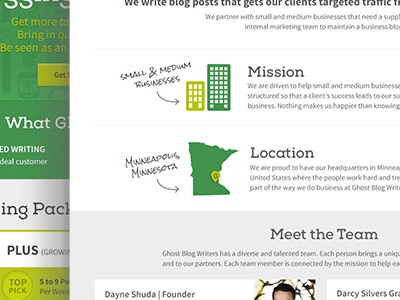 About Page for GBW  blogging web design website illustration green tech