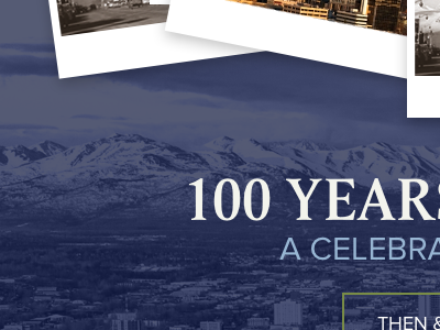 Anchorage Centennial Website travel centennial alaska website web design blue