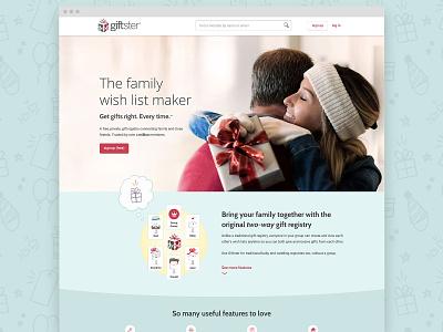 Giftster.com Homepage graphic design ui illustration web design website
