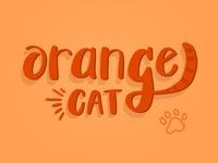 Orange Cat Lettering
