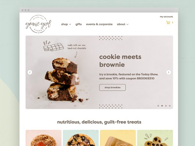 Gracie Girl Bakery web design chocolate wisconsin muffins gluten-free brownie cookie ecommerce healthy food healthyfood health bakery
