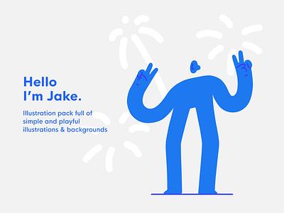 Jake - illustration pack character design jake ui8net ui8 resource illustration pack character flat hand drawn editorial illustrator drawing vector minimal illustration