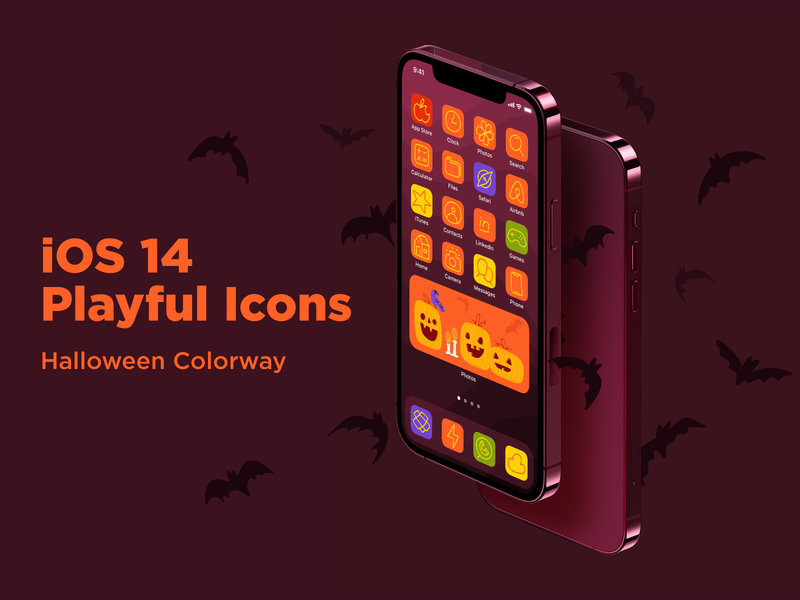 Get Ready for Halloween! drawing line illustration flat minimal apple pumpkin halloween ipad illustrator app iphone ios14 icon icons hand drawn