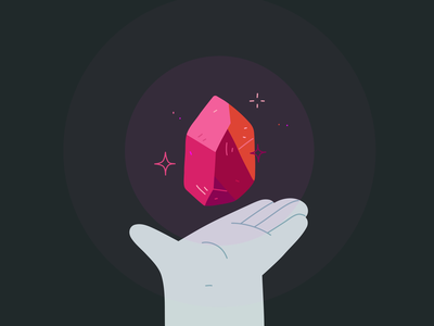 All the Crystals gemstone diamond ruby amber hand gems crystal animation 2d animation after effects aftereffects line flat hand drawn illustrator illustration drawing