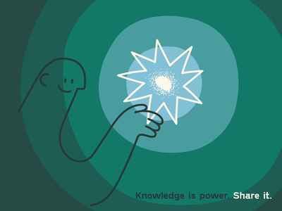Share the Knowledge! playoff line information brain smart power sharing seed knowledge editorial hand drawn illustrator minimal drawing illustration