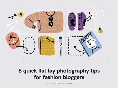 Flat Lay Photography flat lay vector photography minimal line illustrator illustration flat fashion editorial drawing clean