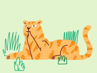 Choose Carefully prairie lion choices choose tiger clean drawing editorial illustration line minimal vector