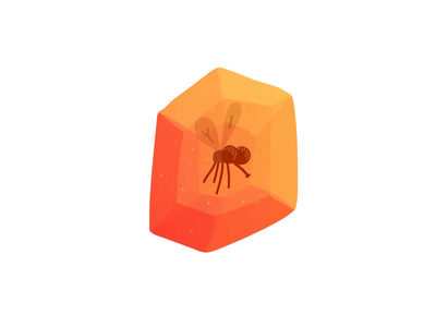 Interactive Amber Mosquito canvas html javascript svg character hand drawn illustrator drawing minimal illustration animation canvas interactive insects mosquito crystals crystal amber