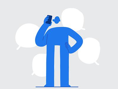 Jake chat charater talking phone call phone characters character art character design characterdesign line illustration pack character hand drawn flat illustrator editorial drawing vector minimal illustration