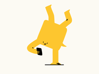 Square Guy chat chat bubble pointing showing hand stand mobile phone landing page character art character design characterdesign editorial design character hand drawn illustrator editorial drawing vector minimal illustration