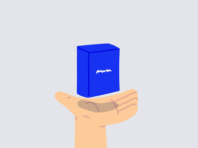 Make it Pop Boxes loop animation animation 2d cards deck product loop animation hand hand drawn illustrator editorial drawing vector minimal illustration