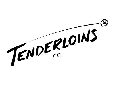 Tenderloins logo lettering hand