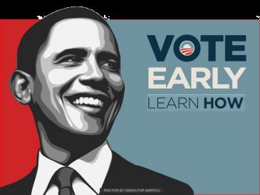 Obama 2008 Vintage Banner obama banner ad campaign