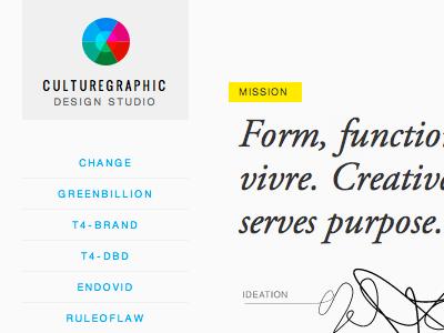culturegraphic brand ux visual design responsive