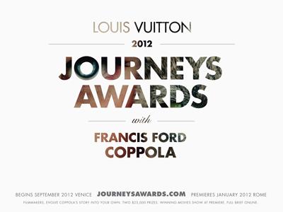 Louis Vuitton Journeys Awards art direction visual design typography brand