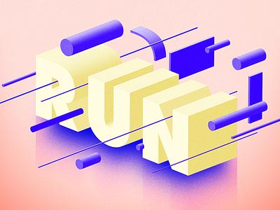 Run typography typo photoshop inktober illustrator graphicdesign graphic run