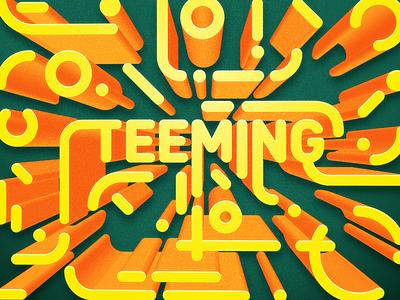 Teeming warmcolors yellow green typography typo run photoshop inktober illustrator graphicdesign graphic art