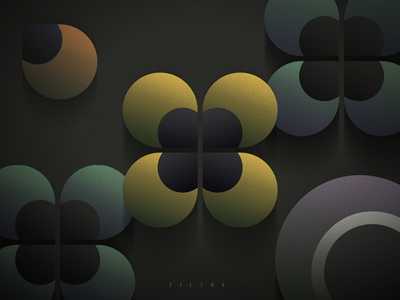 Filthy flat composition dark spooky geometry phobia pansy flowers typography photoshop illustrator graphic