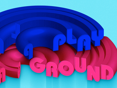 Playground typeface mark logo graphicdesign geometry abstract lettering vector wix 3d type typography